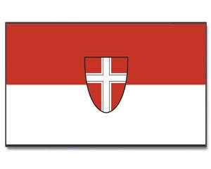 Flagge Wien mit Wappen