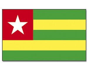 Stock-Flagge Togo