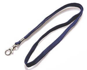 Schlüsselband 10 mm dunkelblau