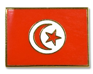Flaggen-Pins Tunesien (rechteckig)