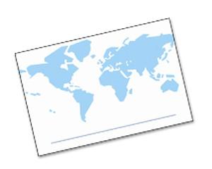 Einlegekarten Landkarte Welt