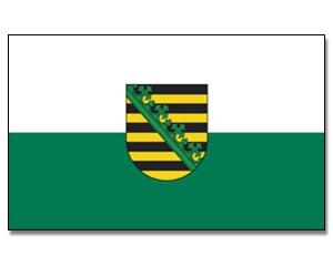 Stock-Flagge Sachsen