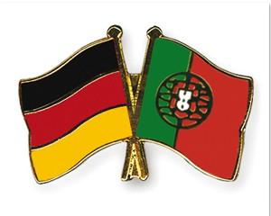 Freundschaftspins Deutschland-Portugal