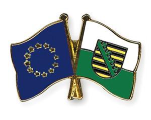 Freundschaftspins Europa-Sachsen