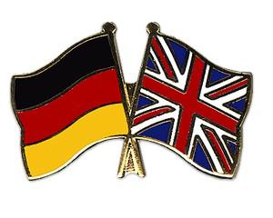 Freundschaftspins Deutschland-Großbritannien
