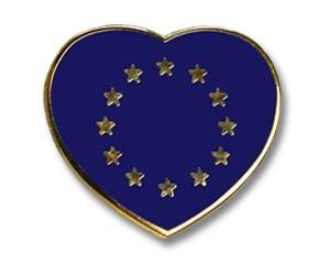 Herz-Pins Europa Flagge