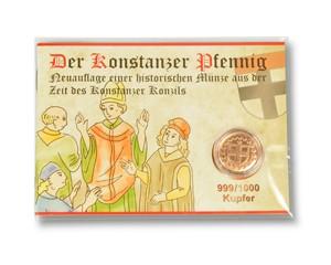 Konstanzer Pfennig Kupfer im Booklet