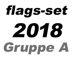 Flaggen Set Fußball WM 2018 Gruppe A