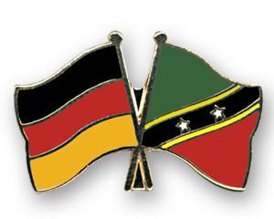 Freundschaftspins Deutschland-St. Kitts und Nevis