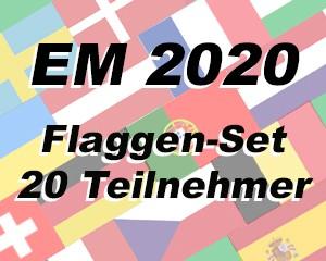 Flaggen Set 20 Fußball EM 2020