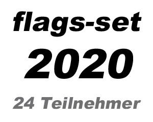 Flaggen-Set Fußball EM 2020: 24 EM Teilnehmerländer