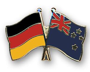 Freundschaftspins Deutschland-Neuseeland
