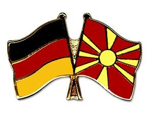 Freundschaftspins Deutschland-Mazedonien