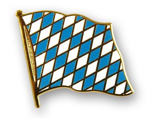 Flaggen-Pins Bayern mit Rauten