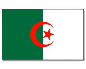 Stock-Flagge Algerien