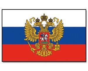Flagge Russland mit Adler