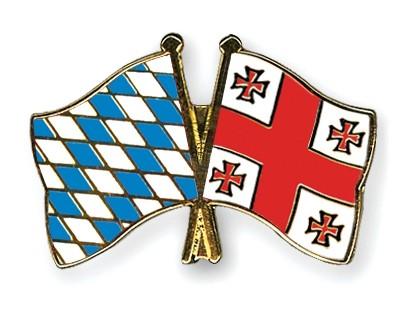 Freundschaftspins Bayern-Georgien