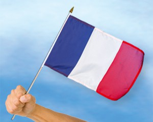 Stock-Flagge Frankreich