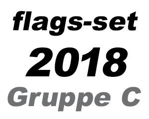 Flaggen Set Fußball WM 2018 Gruppe C