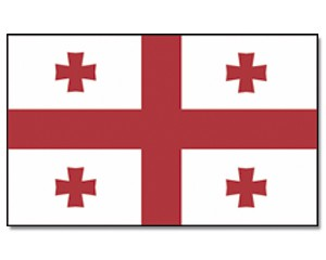 Stock-Flagge Georgien