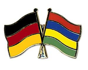 Freundschaftspins Deutschland-Mauritius