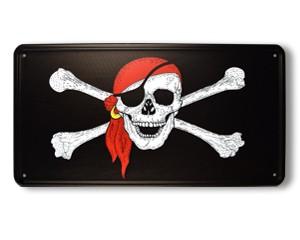 Blechschild Pirat mit Kopftuch