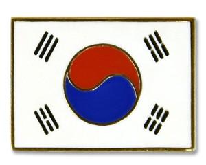 Flaggen-Pins Südkorea (rechteckig)
