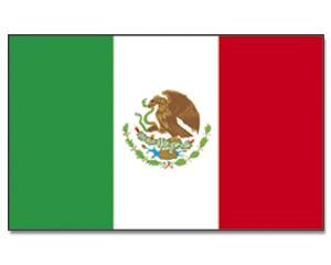Stock-Flagge Mexiko