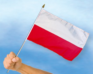 Stock-Flagge Polen