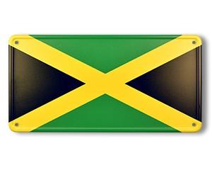 Blechschild Jamaika