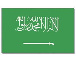 Stock-Flagge Saudi-Arabien