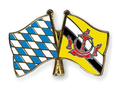 Freundschaftspins Bayern-Brunei Darussalam