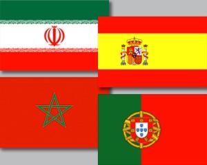 Flaggen Set Gruppe B Fußball WM 2018