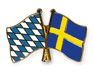 Freundschaftspins Bayern-Schweden