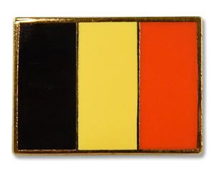 Flaggen-Pins Belgien (rechteckig)