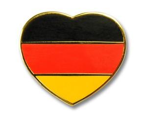 Herz-Pins Deutschland Flagge