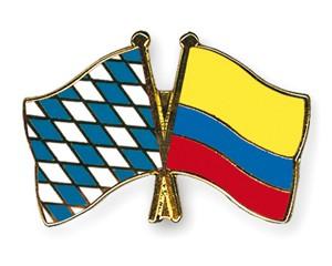 Freundschaftspins Bayern-Kolumbien