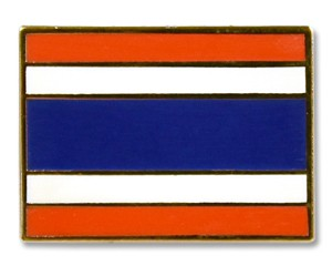 Flaggen-Pins Thailand (rechteckig)