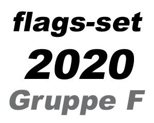 Flaggen-Set Fußball EM 2020 Gruppe F: 4 Flaggen 90 x 150 cm