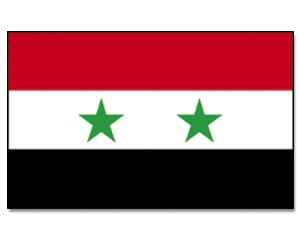 Stock-Flagge Syrien