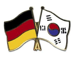 Freundschaftspins Deutschland-Südkorea