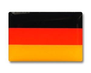 Flaggenpin Deutschland rechteckig (Siebdruck + Epoxyharz), Größe ca. 21 x 14 mm