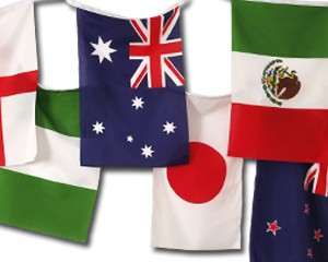 Flaggen Kette Fußball Frauen WM 2011 groß