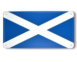Blechschild Schottland