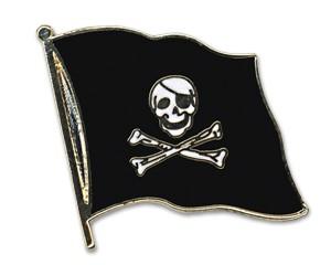 Flaggen-Pins Pirat mit Knochen