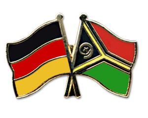 Freundschaftspins Deutschland-Vanuatu