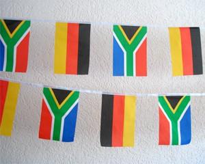 Flaggen Kette Deutschland-Südafrika klein