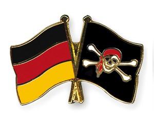 Freundschaftspins Deutschland-Pirat mit Kopftuch