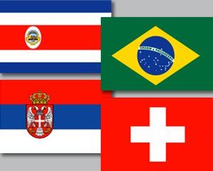 Flaggen Set Fußball WM 2018 Gruppe E