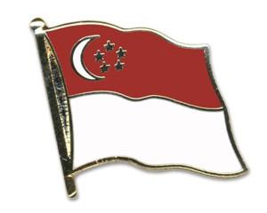 Flaggen-Pins Singapur